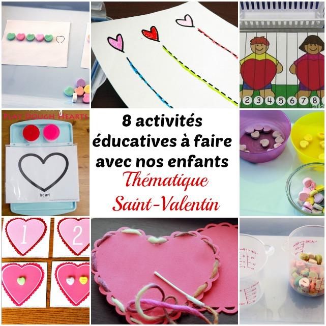 8 activit s ducatives faire avec nos enfants - Idee activite saint valentin ...